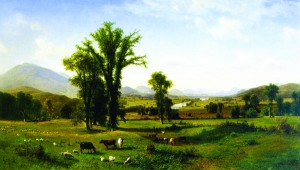"Albert Bierstadt, Mt. Ascutney from Claremont, New Hampshire, 1862, 40.5 x 70.5"". At Fruitlands Museum."