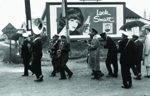 Lee Friedlander, Young Tuxedo Brass Band, New Orleans, 1959. Gelatin silver print. © Lee Friedlander, Courtesy Fraenkel Gallery, San Francisco. At Yale University Art Gallery.